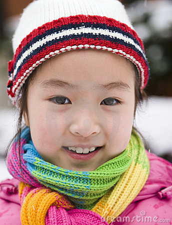 Free Little Girl In Snow Royalty Free Stock Photos - 8163048