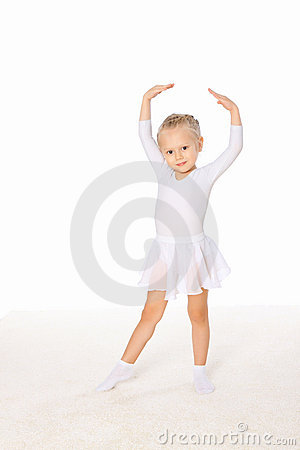 Free Little Girl In The Dance Pose Stock Photography - 17601802