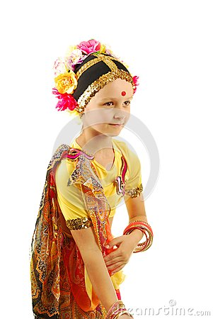 Little girl Indian dancer