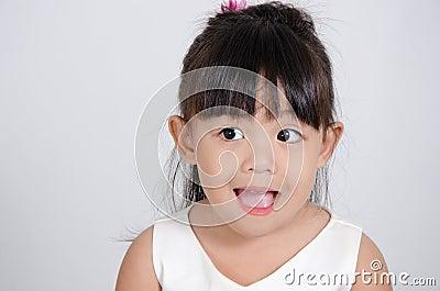 Little girl in joy