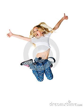 Little girl jump
