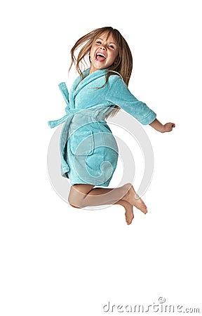 Little Girl Jump For Joy
