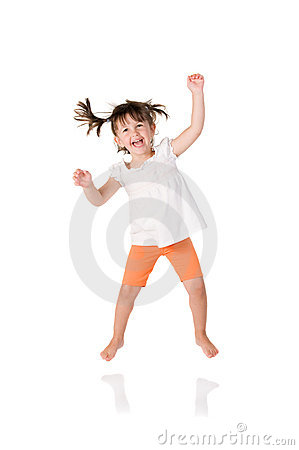Free Little Girl Jumping Stock Images - 10012604