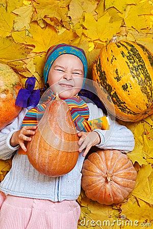 Little girl in knitwear