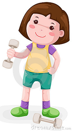 Little Girl Lifting Weight Stock Photography - Image: 14277722