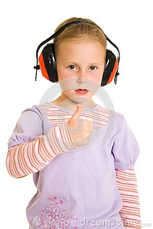 Little Girl Listening To Music Royalty Free Stock Photo - Image: 21011765