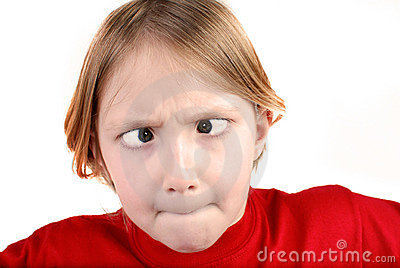 Little Girl Making Face
