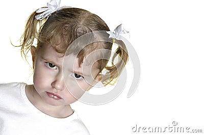 Little Girl Making Faces 12