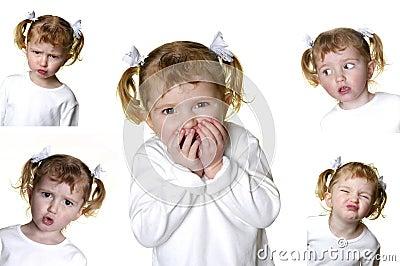 Little Girl Making Faces