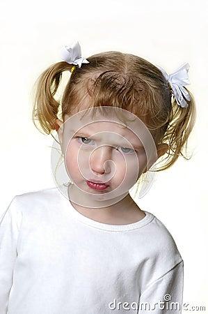 Little Girl Making Faces 3