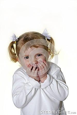 Little Girl Making Faces 6