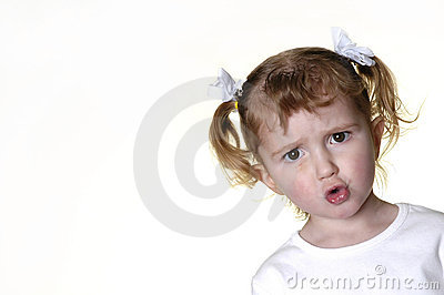 Little Girl Making Faces 9