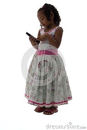 Little Girl Making a Phone Call