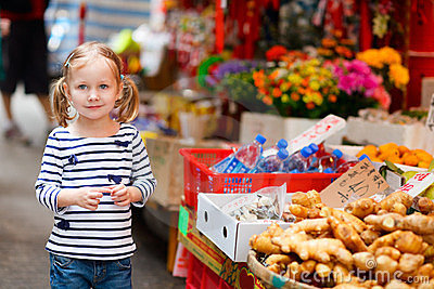 Little girl at market