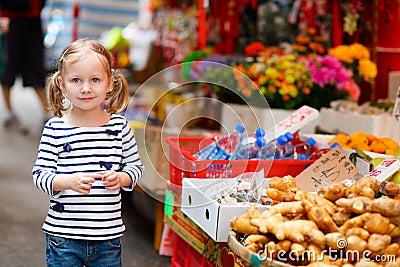 Little girl at market