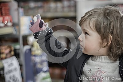 Little Girl on a Market on