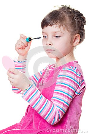 Little girl with mascara