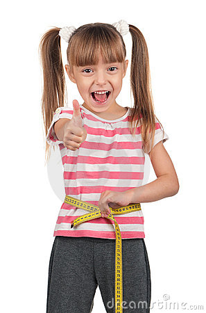 Little girl with measure