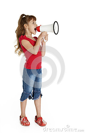 Little Girl with Megaphone