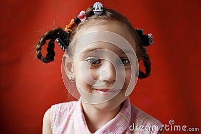 The little girl naughty school age