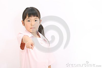 A little girl nurse