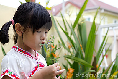 Little girl at outdoor