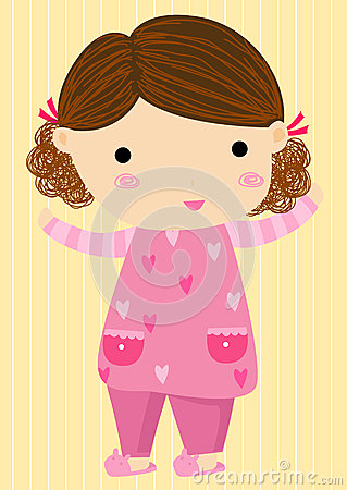 Little girl in pajamas