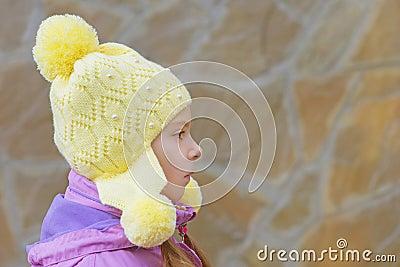 Little girl in pink jacket