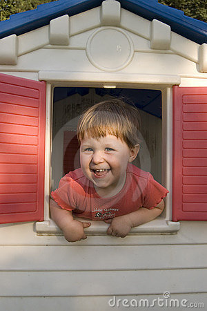 Little Girl In Play House