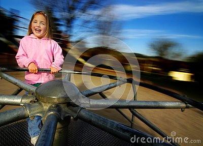 Little Girl Playing at Park