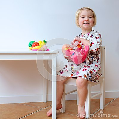 Free Little Girl Playing With Toys Royalty Free Stock Images - 51805809