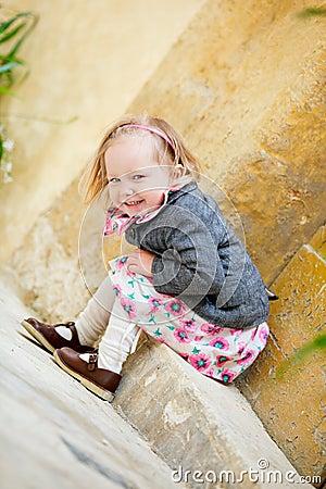Little girl portrait outdoors