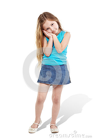 Little girl poses for camera
