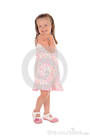 Little girl posing and smiling