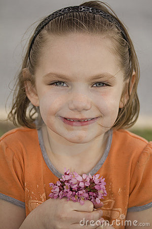 Little Girl With Posy