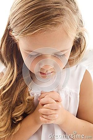 Free Little Girl Praying Stock Photos - 16590593