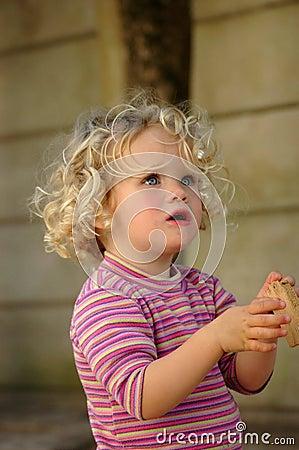 Little girl questioning