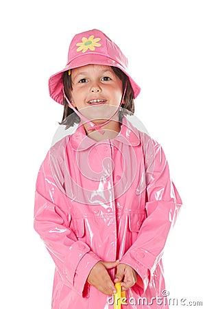 Little girl with raincoat