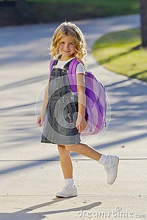 Little Girl Ready For School