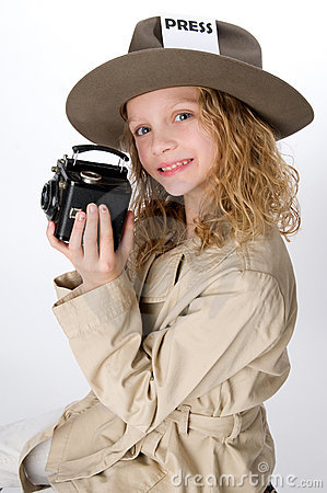 Free Little Girl Reporter Royalty Free Stock Image - 16962516