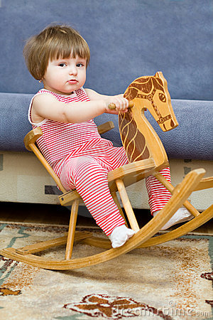 Little Girl Is Riding Horse Stock Photos - Image: 8811903