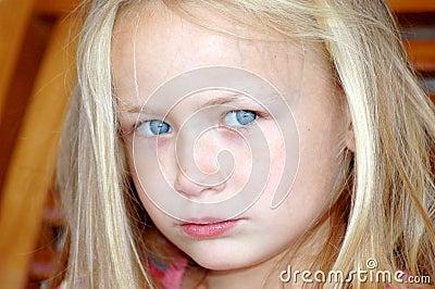 Little girl sad