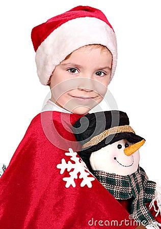 Little girl Santa Claus