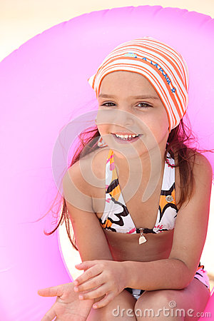 Little girl at the seaside
