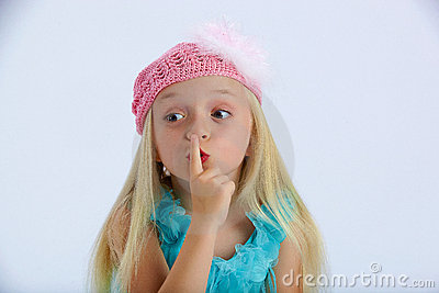 Little girl with a secret