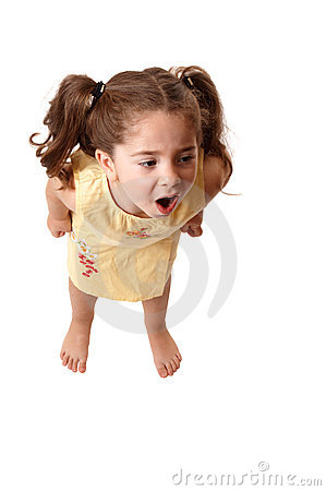 Free Little Girl Shouting,  Or Tantrum Royalty Free Stock Photos - 10082268