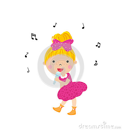 Little girl sing