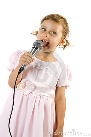 Little girl singing.