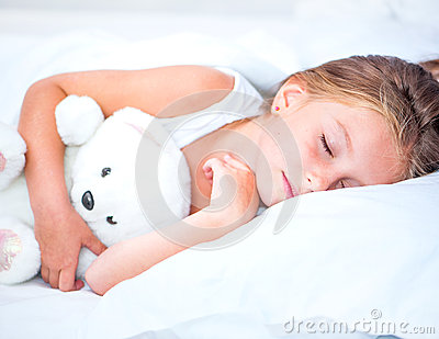 Little girl sleep Stock Photo