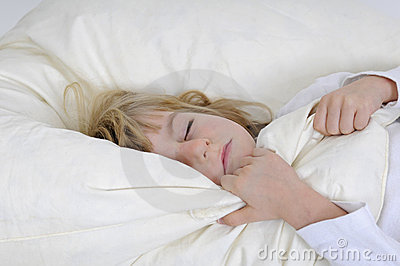 Little girl sleeps